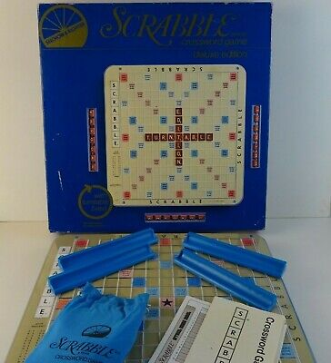 Vintage 1977 Deluxe Edition ScrabbleSelchow & Righter Crossword Game - Complete