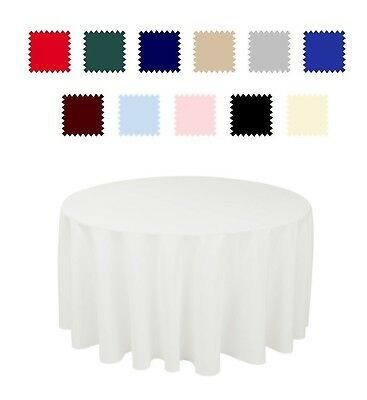 Round Premium High Quality Polyester Tablecloth Wedding Party Table Linens SALE ()