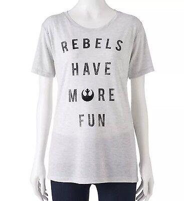 Women's Star Wars Rebels Have More Fun T-Shirt Size L