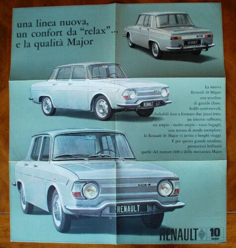 Renault 10 Major brochure Prospekt, 1965 (Italian text)