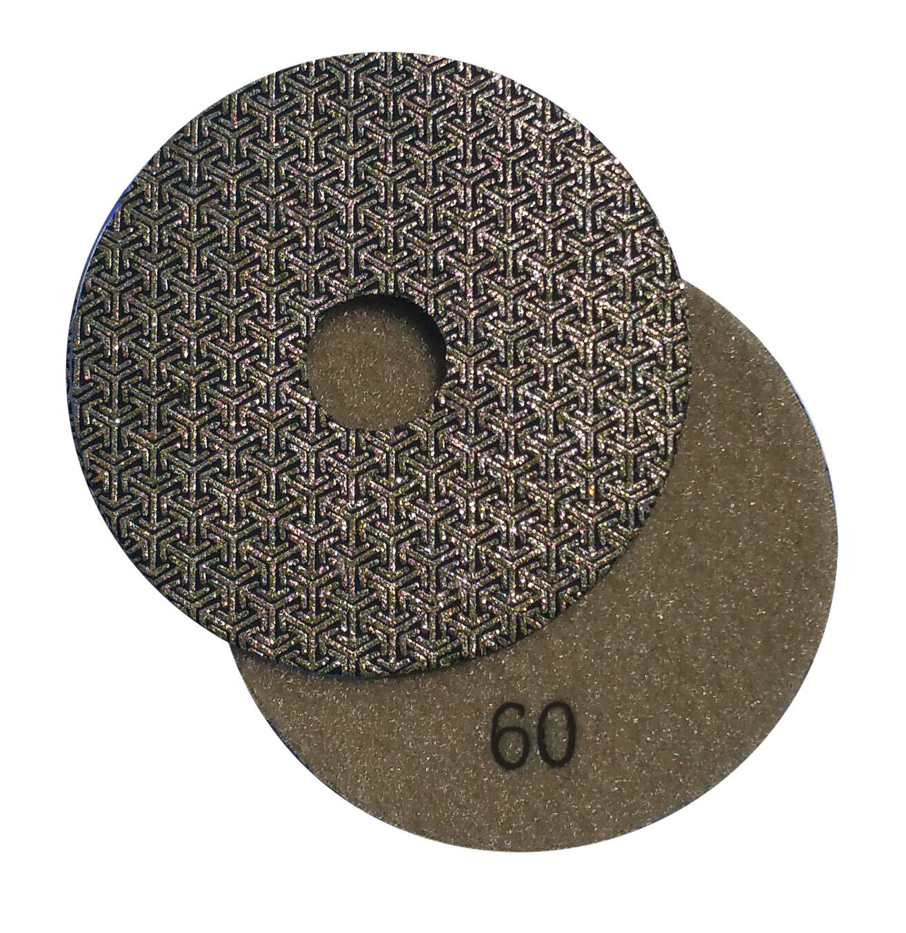 Diamond Polishing Pad 5 inch Wet//Dry 60 /& 2 Backer Marble Granite Concrete stone