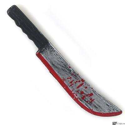 Forum Halloween Bloody Costume Accessory Knife Machete, Grey Black Red, 11.5