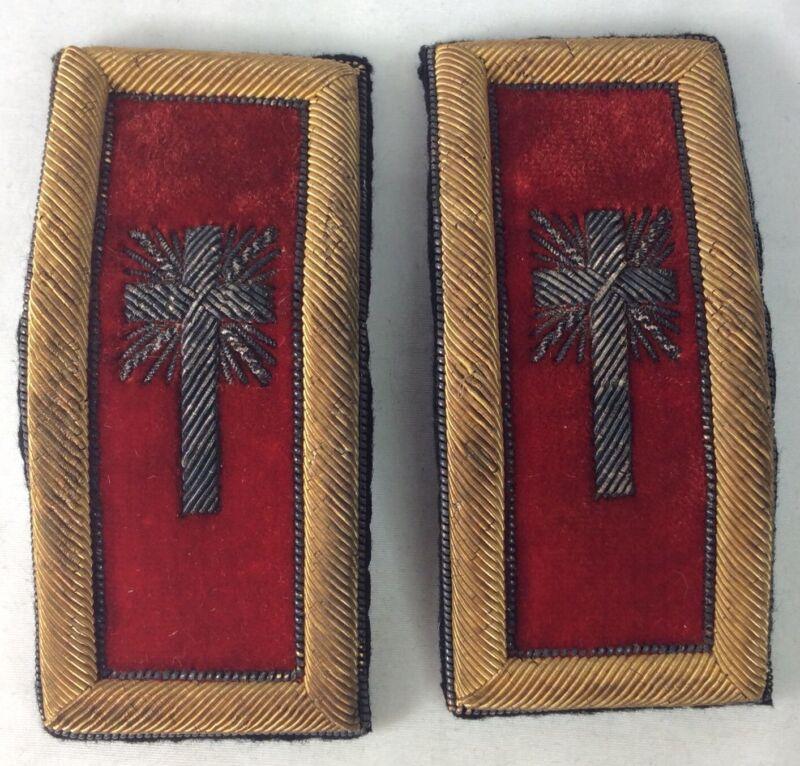 Knights Templer Fraternal Free Mason Shoulder Epaulettes (I238)