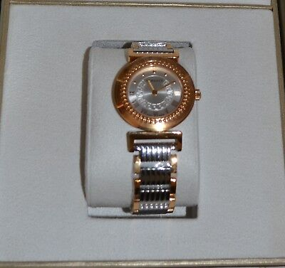 VERSACE P5Q80D499S089 WOMEN'S VANITY TWO TONE STAINLESS STEEL WATCH NEW WITH TAG