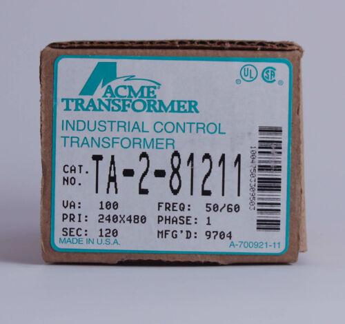 Acme Transformer Control Transformer TA-2-81211 100VA Pri: 240/480V Sec: 120V