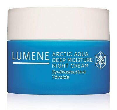 Lumene Arctic Aqua Deep Moisture Night Cream 50 ml / 1.7 Fl.Oz. without parabens Aqua Moisturizing Night Cream