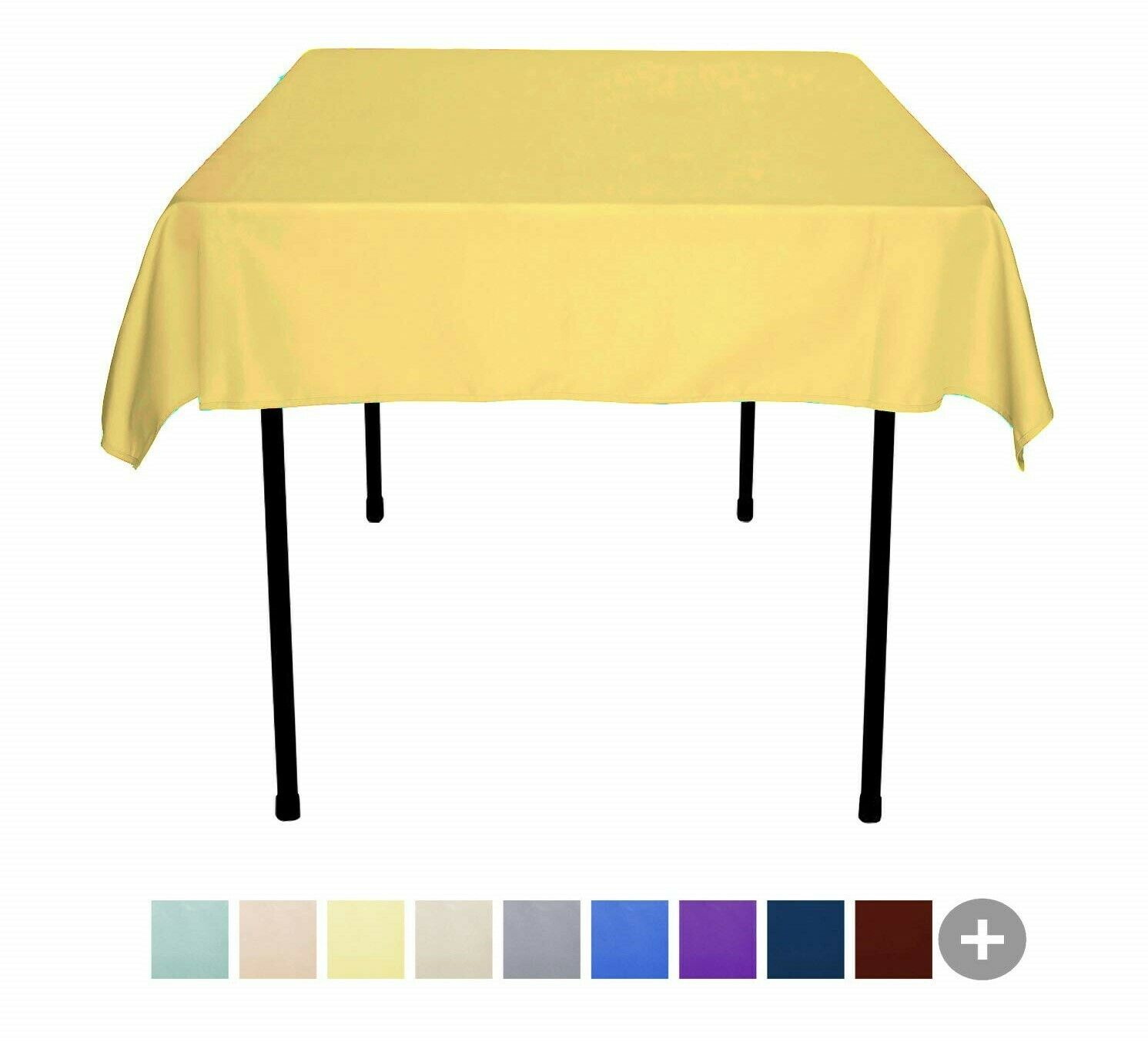 """52x52"""" Square Polyester Tablecloth Top Quality Wholesale Tab"""