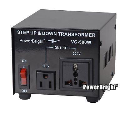 500w Voltage Converter - Power Bright VC500W Voltage Transformer 500 Watt Step Up/Down converter 110/120