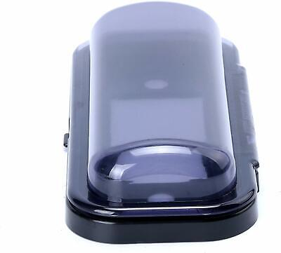 Water Resistant Marine Stereo Cover - Smoke Colored Boat Radio Protector Shield Waterproof Marine Stereo Cover