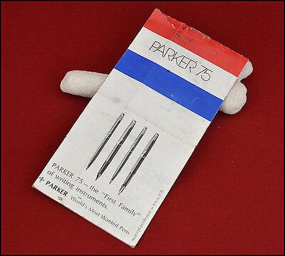 Vintage Parker 75 Pen Set Brochure.  ( REF # 8413 )