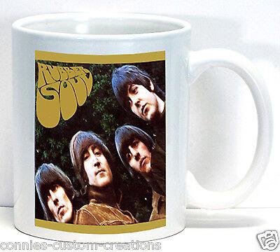 The Beatles Rubber Soul Album Cover Coffee Cup Ceramic Collectible Fan Mug Gift Beatles Fan Mug