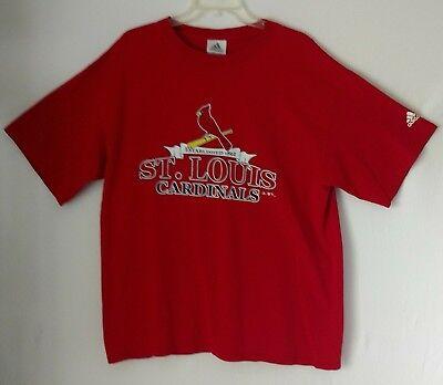 Adidas St. Louis Cardinals Mens Cotton T-Shirt Red Short Sleeve Size L