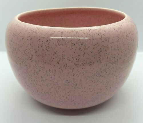 Bauer Pottery Mid Century Modern Pink Speckled Planter
