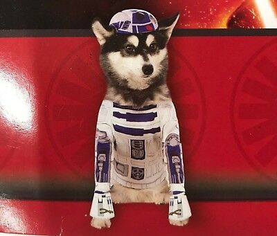 Star Wars Disney R2-D2 Halloween Party 2 Piece Dog Costume with Hat ()