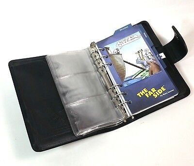 The Far Side Gary Larson Black Day Runner 6 Ring Agenda Planner Binder Organizer