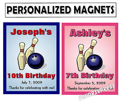 Bowling Party Favors (15 BOWLING BIRTHDAY PARTY FAVORS MAGNETS)