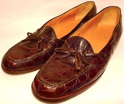 Polo Ralph Lauren Alligator Moccasin-Sewn Loafer Mens Shoes - Size 12 B