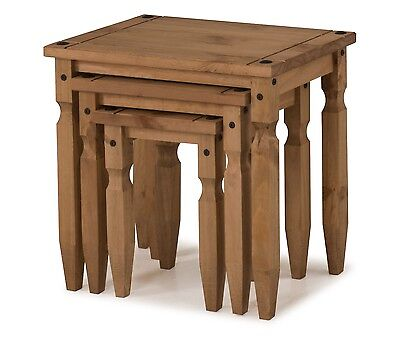 Mercers Furniture® Corona Mexican Pine Piccolo Nest of Tables