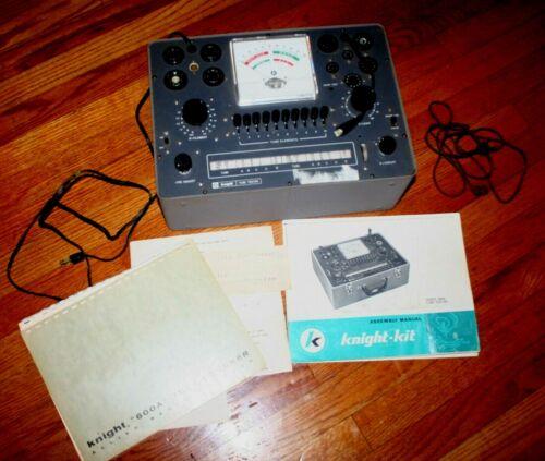 VTG 1962 600A Bench Tube Tester Knight-Kit Allied Radio Corp. AV 3-4800