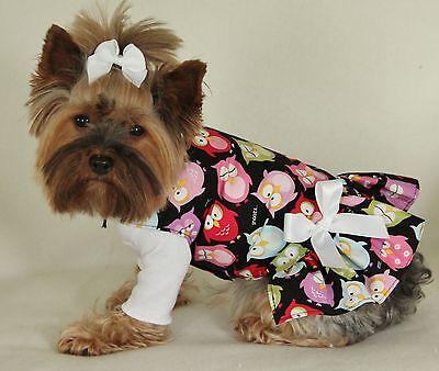 M Sleepy Owls Dog Dress Clothes Pet Puppy Pet Apparel Medium Pc Dog®