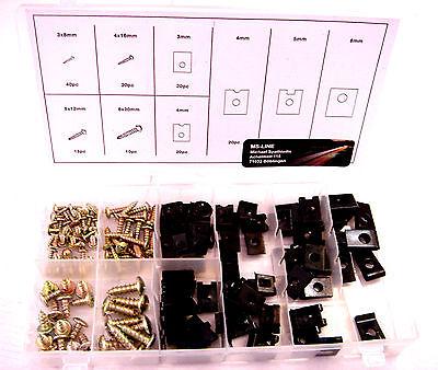 Sortiment Blechmutter + Blechschraube 172 Teile Dämpfungsscheiben