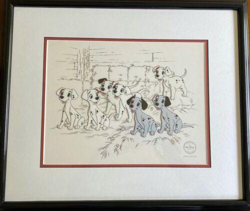 Beautiful! Walt Disney 101 DALMATIANS HOPEFUL PUPS Limited Edition Sericel