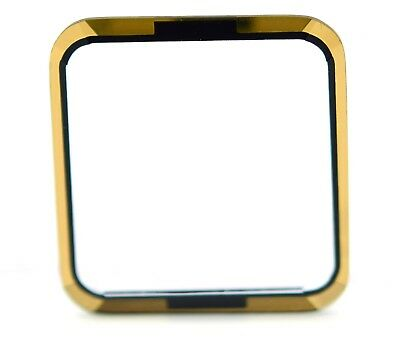 21.41 x 22.83 x 1.92 mm Black and Gold Rectangular Faceted Watch Crystal Part ()