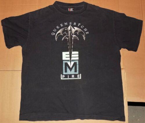 Vintage NW rock concert shirt QUEENSRYCHE Building Empire WORLD TOUR 91 metal XL