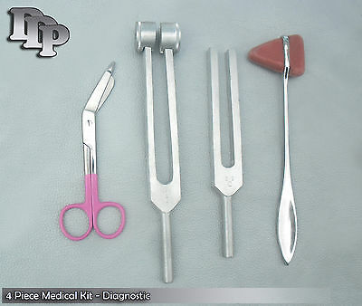 Tuning Fork Lister Bandage Scissor Taylor Hammer Mallet - 4 Piece Kit