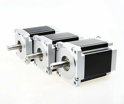 Free Ship Us3pcs Cnc Nema34 Stepper Motor 1232 Oz-in 8.4nm 5.6a116mm Dual Cnc