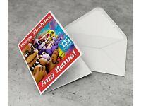 Fnaf Five Nights At Freddy/'s Nightmare Fredbear Birthday Personalised Card