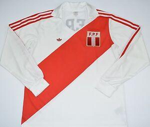 PERU ADIDAS ORIGINALS FOOTBALL SHIRT (SIZE S)