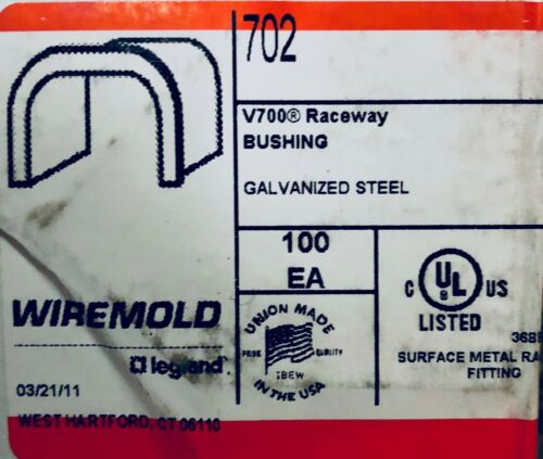 (Case of 100) 702 Wiremold V700 Raceway Bushing (NEW)