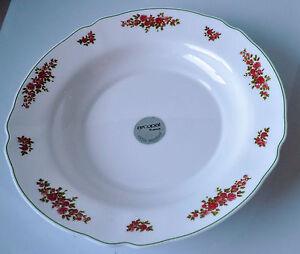Pie Plate, Arcopal, Bagatelle rose pattern, approx 290mm dia Rare Milk Glass