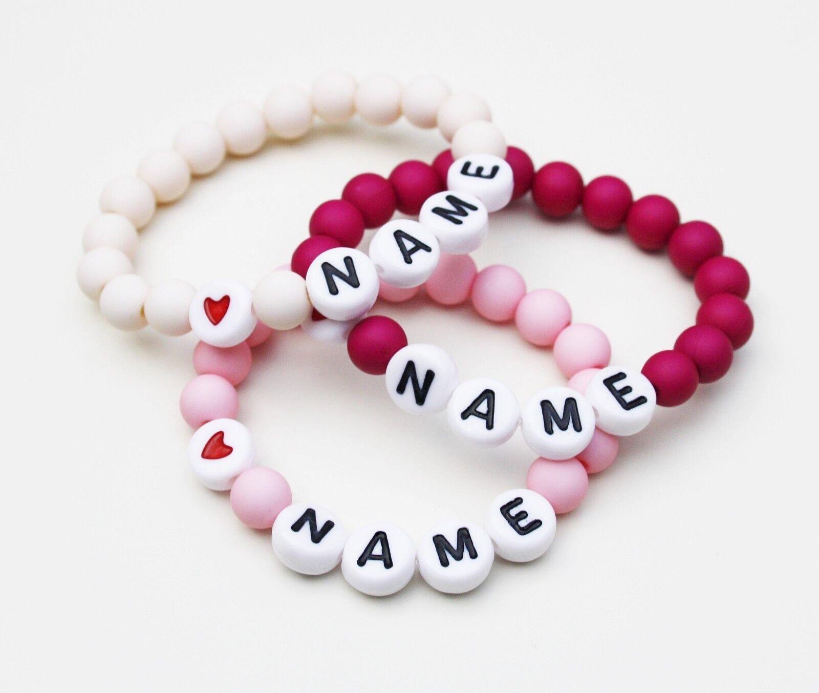 Baby Kinder Armband mit Name Personalisiert Namens Armband Taufe Geburt Geschenk