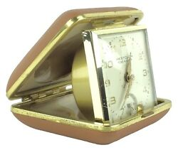 Vintage Westclox Home & Away Folding Compact Travel Alarm Clock Japan Works!