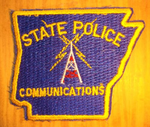 GEMSCO NOS Vintage Collectible Patch STATE POLICE COMMUNICATIONS AR Original 45+