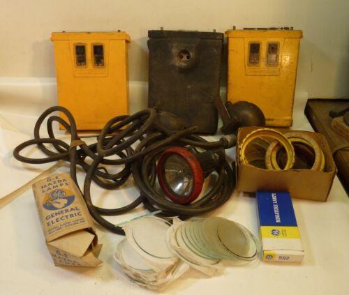 LARGE LOT OF MSA MINESPOT & KOEHLER MINERS LAMP PARTS MINE SAFETY APPLIANCES