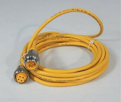 NEW TURCK 300 VOLT 9 AMP 4 PIN 4 METER CONNECTOR CABLE RKM40-4M