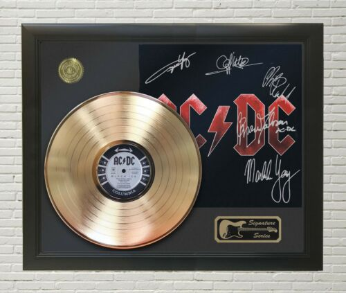 """AC/DC Framed LP Record Reproduction Signature Display """"M4"""""""