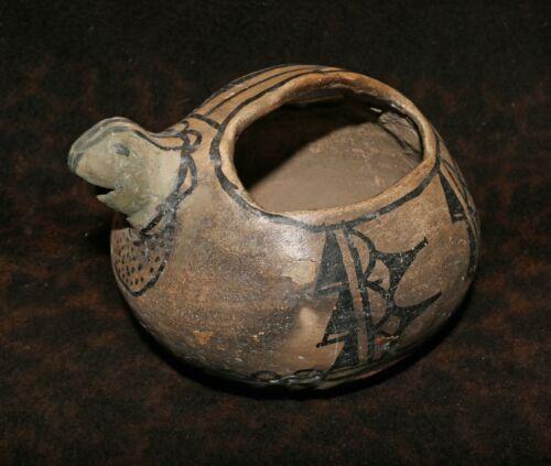 "Charismatic 19th Century Cochiti Pueblo Polychrome Pottery Chipmunk Pitcher 7""d"
