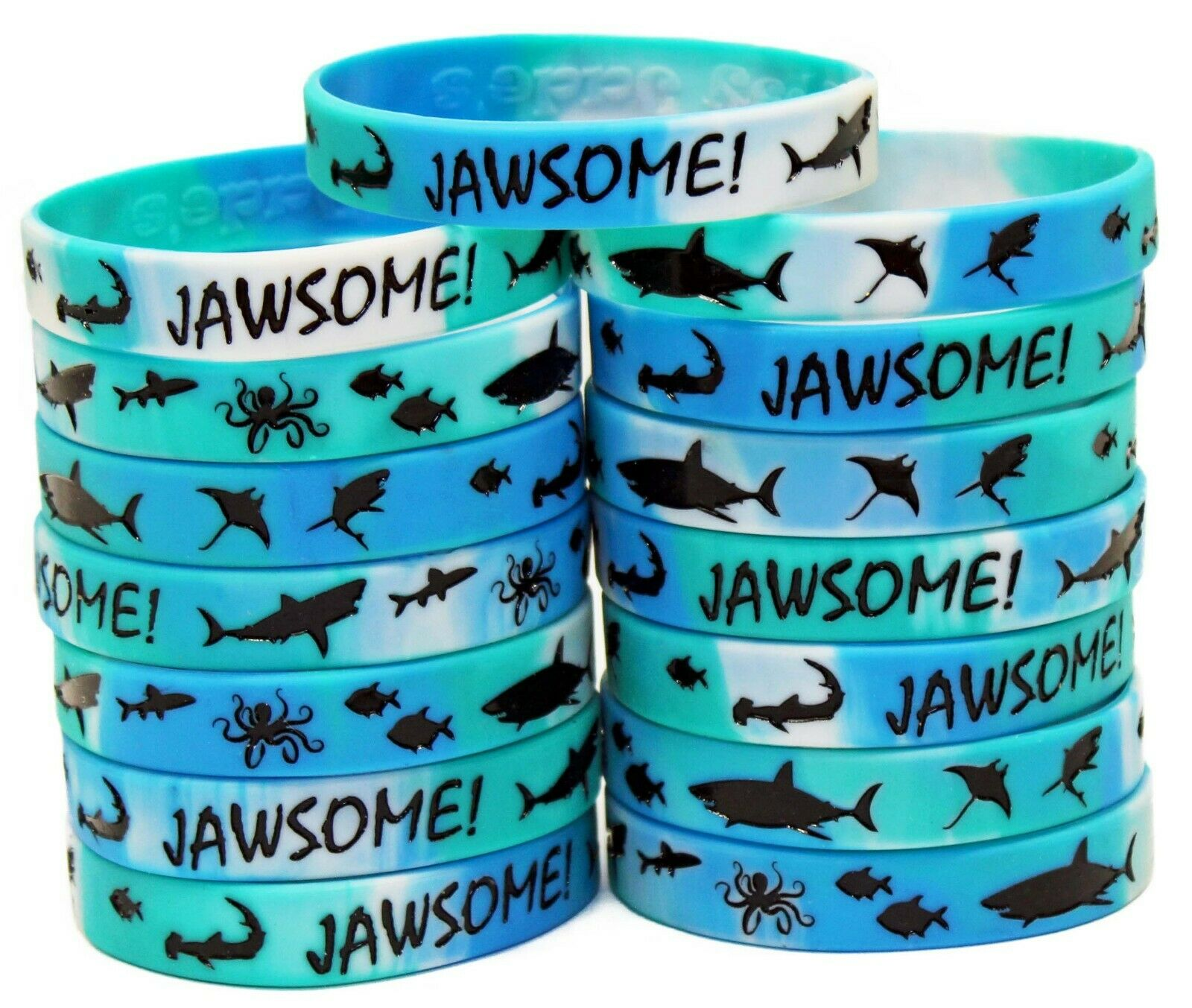 Shark Party Favors - Wristbands for Jawsome! Shark Themed Pa