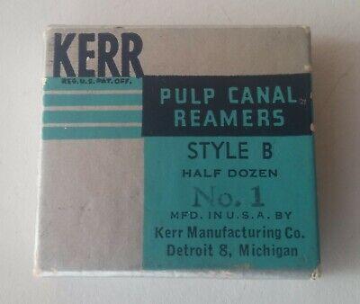 Vintage Original Kerr Pulp Canal Reamers