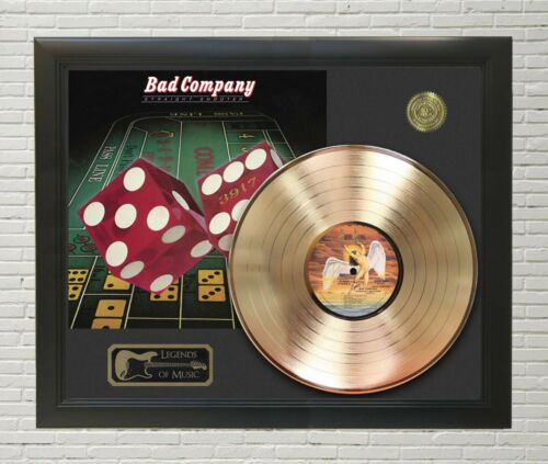 Bad Company Straight Shooter Framed Legends Of Music Gold LP Record Display