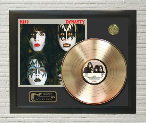 KISS Dynasty Framed Legends Of Music Gold LP Record Display