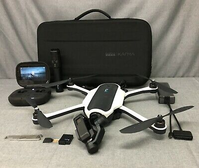 GoPro KARMA QUADCOPTER DRONE COMBO with HERO5 CAMERA & ACCESSORIES BLACK/WHITE-