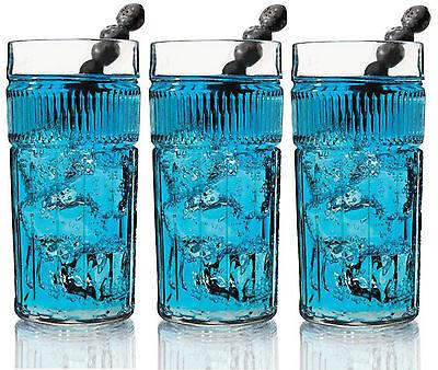 Anchor Hocking Anapolis Grande Cristal Vasos Conjunto De 6 Hiballs Hi Bola...