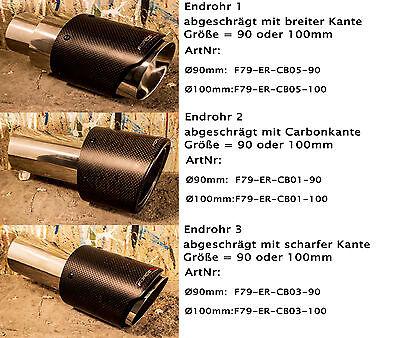 Force79 Echtcarbon ummantelte Edelstahl Endrohre Auspuffanlagen für BMW