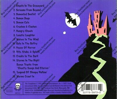 P HALLOWEEN TERROR! VINTAGE 1997 K-TEL SOUND EFFECTS + BONUS (Non-stop Halloween)