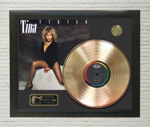 Tina Turner Private Dancer Framed Legends Of Music Gold LP Record Display